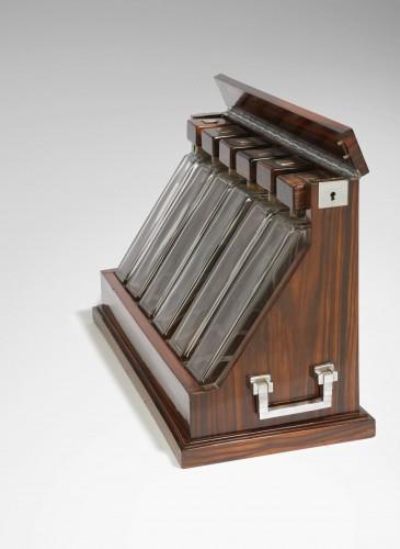 6 decanters Liqueur older - Marcel GOUPY - Decorative Objects Style Art Déco