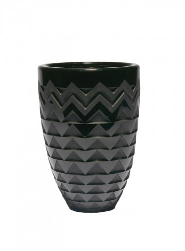 vase with chevrons - Jean LUCE (1895-1964)
