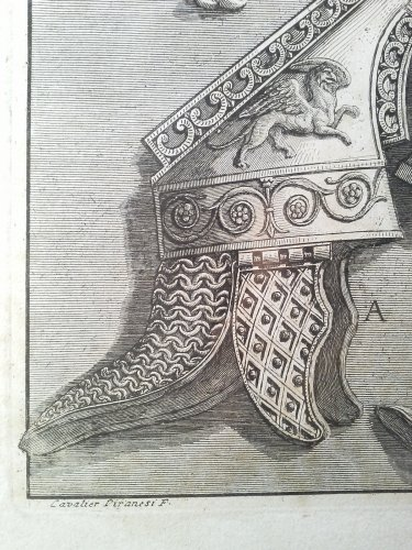 """Engravings & Prints  - 18th etching by Piranese """"Trophy of Augustus"""""""