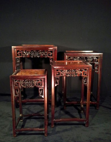 Tables gigognes, Chine circa 1900