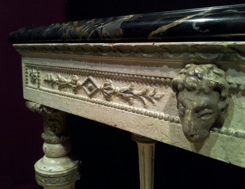 Furniture  - 18th century Italian Neoclassical White Lacquered Console Table