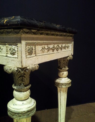 18th century - 18th century Italian Neoclassical White Lacquered Console Table