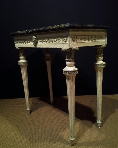 18th century Italian Neoclassical White Lacquered Console Table - Louis XVI