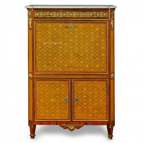 French Louis XVI secretaire stamped DESTER