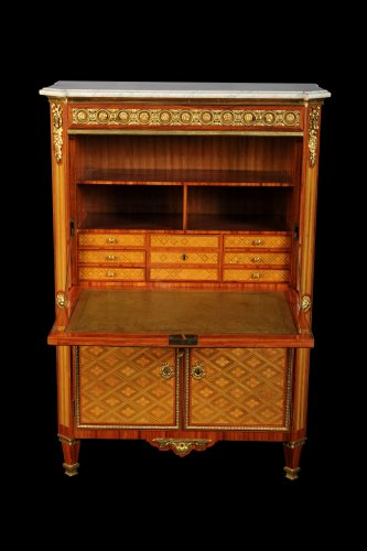 Furniture  - French Louis XVI secretaire stamped DESTER