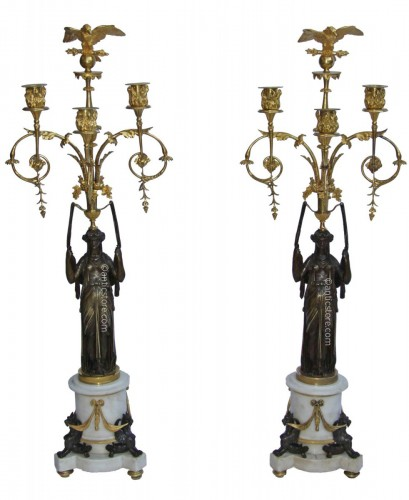 Pair of Empire period candelabra