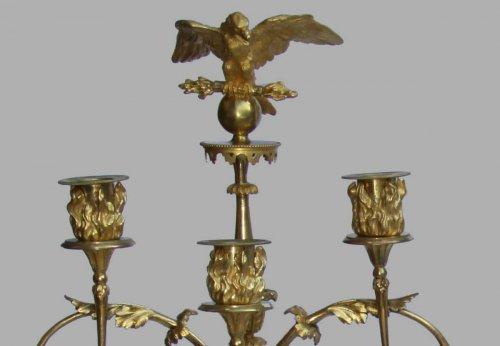 Pair of Empire period candelabra - Lighting Style Empire