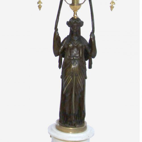 Lighting  - Pair of Empire period candelabra