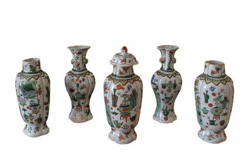 Garniture d'Epoque Kangxi