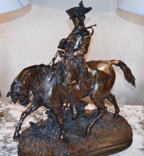"""Bronze """"le Valet de chasse Louis XV"""""""