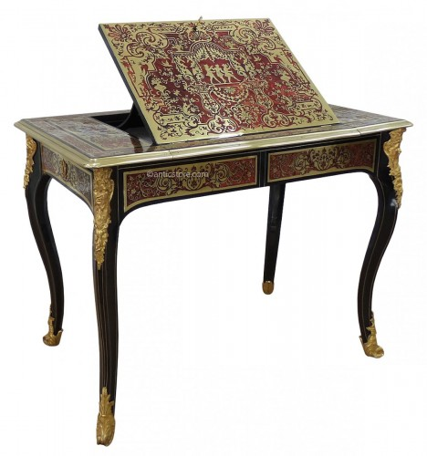 French Louis XIV Boulle marquetry liseuse table
