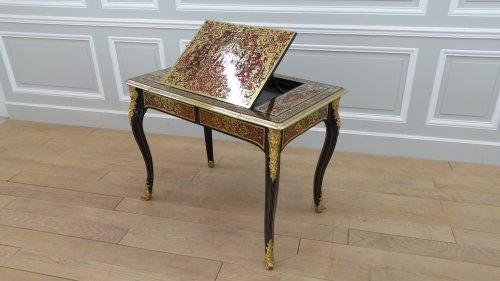 French Louis XIV Boulle marquetry liseuse table - Furniture Style Louis XIV