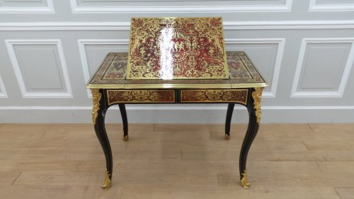 French Louis XIV Boulle marquetry liseuse table -