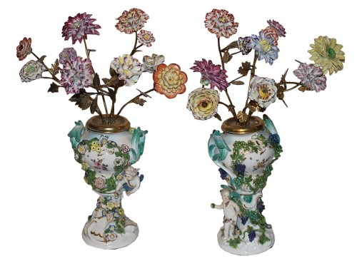 Pair of Meissen vases