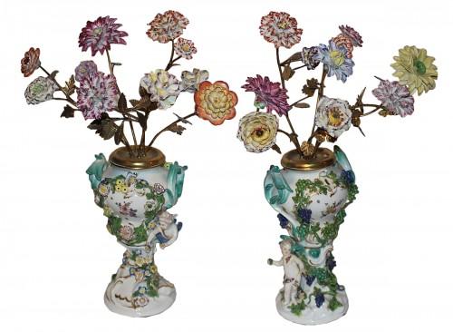 Pair of Meissen vases