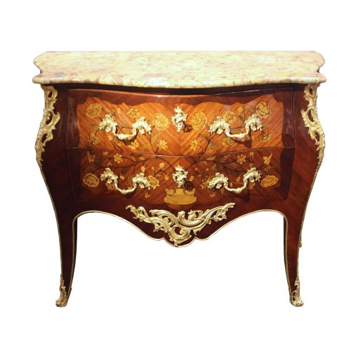 French Louis XV Chest of drawers stamped Migeon and Walter