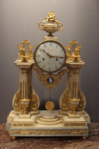 Louis XVI marble clock