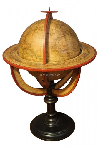 Earth globe dated 1831
