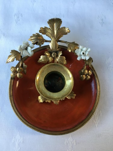 Lighting  - A Louis XV lacquered candlestick