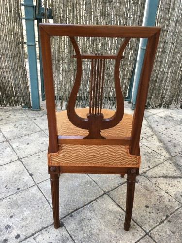 Seating  - Suite of 12 chairs with lyre back