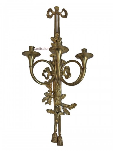 Pair of Napoleon III sconces with hunting horns