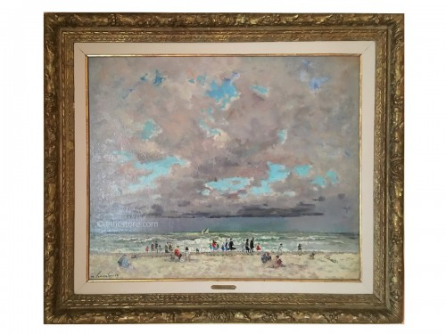 André HAMBOURG (1909-1999) -  Beach in Normandy