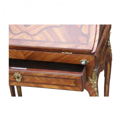 Furniture  - Louis XV Bureau de pente stamped MIGEON