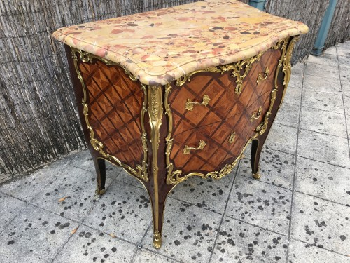 Commode Louis XV estampillée Migeon - Nicolas Bordet
