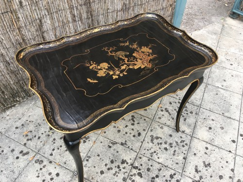 Lacquered cabaret table Louis XV - Furniture Style Louis XV