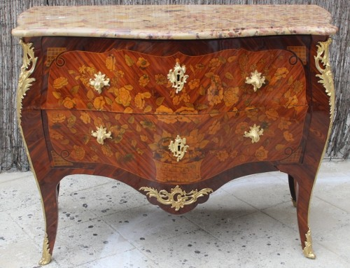 French Louis XV Commode by Pierre Fléchy -