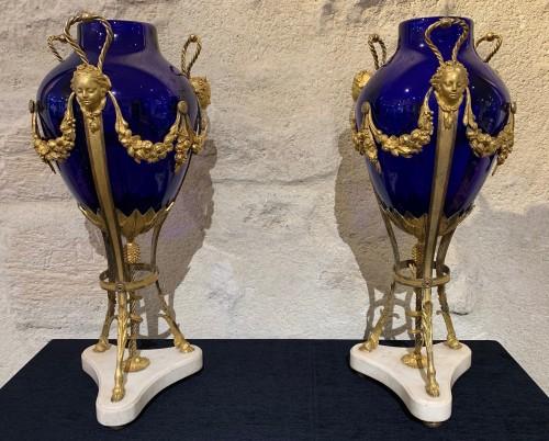 Louis XVI pair of vases - Decorative Objects Style Louis XVI