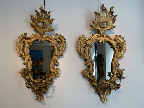 Pair of carved mirrors