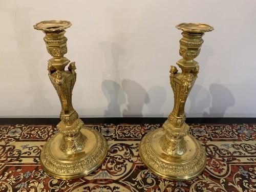 Pair of Louis XIV candlesticks
