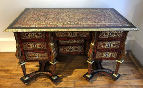 Louis XIV - Mazarin desk in Boulle marquetry, Louis XIV period end of the 17th century