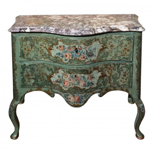 Chest of drawers painted Italy circa 1750