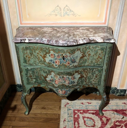Chest of drawers painted Italy circa 1750 - Furniture Style Louis XV