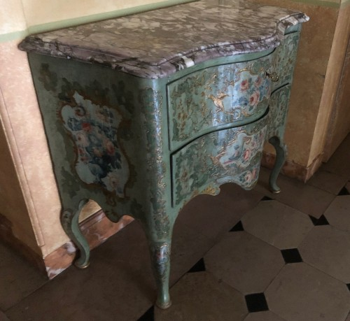 Chest of drawers painted Italy circa 1750 -