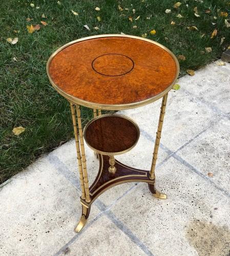 Pedestal table model Adam Weisweiler - Furniture Style Restauration - Charles X