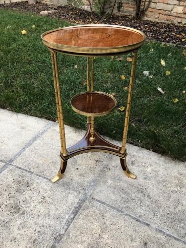 19th century - Pedestal table model Adam Weisweiler