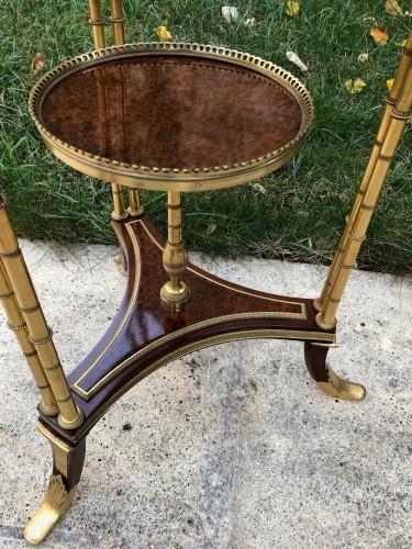 Pedestal table model Adam Weisweiler - Restauration - Charles X