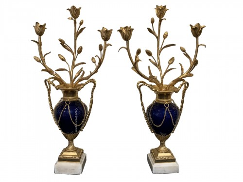 Pair of Louis XVI candelabras