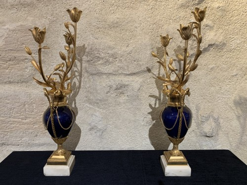 Pair of Louis XVI candelabras - Lighting Style Louis XVI