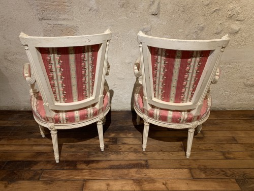 Pair of Louis XVI armchairs - Seating Style Louis XVI