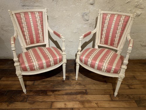 Pair of Louis XVI armchairs -