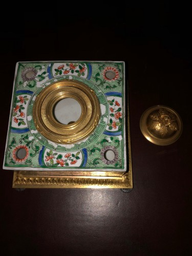 Decorative Objects  - Samson porcelain inkwell