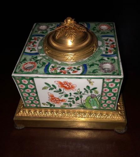 19th century - Samson porcelain inkwell