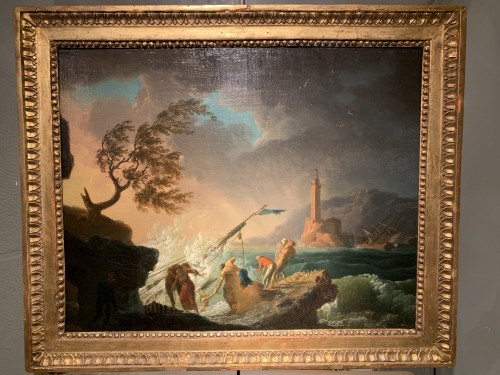 Pair of maritime scenes, french school of the 18th century - Paintings & Drawings Style