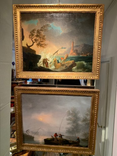 Pair of maritime scenes, french school of the 18th century -