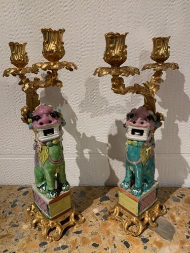 Pair of Foo dogs - Lighting Style