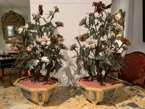Asian Works of Art  - Pair of Qianlong period planters